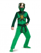 Lloyd Ninja-Kostüm für Jungen Lego Ninjago™ grün-braun-goldfarben