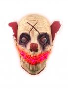 Clown-Leuchtmaske Halloween-Maske bunt