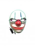 Gruselclown-Leuchtmaske Halloween-Maske bunt