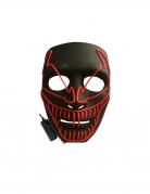 Filmmonster-Leuchtmaske Halloween-Maske schwarz-rot