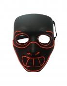 Kannibalen-Leuchtmaske Halloween-Maske schwarz-rot
