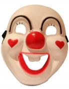Clown-LED-Maske Deluxe-Maske Halloween bunt