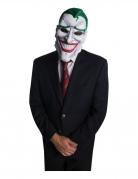 Joker™-Maske mit Artikulation Faschingsmaske weiss-grün