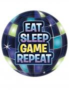 Battle Royale-Pappteller Partydeko Gaming 8 Stück blau 18 cm