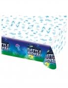 Battle Royal-Tischdecke Partydeko blau-weiss 137 x 243 cm