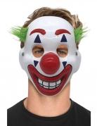Verrückte Clown-Maske für Erwachsene Faschingsmaske bunt