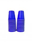 Amerikanische Shooter-Becher Tischdeko 20 Stück blau 40 ml