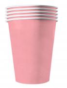 Recycelbare Pappbecher 20 Stück rosa 530 ml