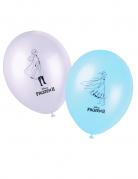 Frozen 2™ offizielle Luftballons von Disney für Kinder 8 Stück weiss-blau-schwarz 28 cm