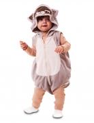 Waschbär-Kostüm für Babys Faschingskostüm grau-beige