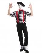 Pantomime-Kostüm für Herren Karnevalskostüm schwarz-weiss