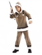 Eskimo-Kostüm für Kinder Jungen-Inuit-Kostüm braun
