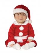 Weihnachtskostüm für Babys Weihnachtsmann-Baby-Kostüm rot-weiss