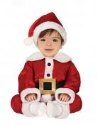 Weihnachtsmann-Kostüm für Babys Baby-Weihnachtskostüm rot-weiss-schwarz
