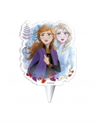 Frozen 2™-Geburtstagskerze Kuchendeko bunt 7,5 cm