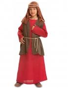 Josef-Kostüm für Kinder Krippenspiel-Kostüm rot-braun