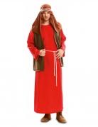 Josef-Kostüm Weihnachts-Kostüm rot-braun-weiss