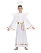 Engelskostüm für Kinder Krippenspiel-Kostüm 3-teilig weiss-goldfarben
