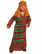 Hirte-Kostüm für Kinder Krippenspiel-Kostüm 4-teilig braun-orange-grün