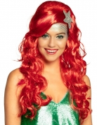 Meerjungfrau-Perücke Karneval-Perücke rot
