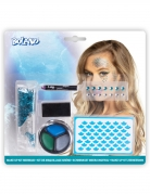 Meerjungfrau-Schminkset für Damen Fasching-Make-up blau