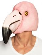 Flamingo-Vollmaske für Erwachsene bunt