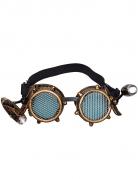 Stylische Steampunk-Brille für Erwachsene braun-schwarz