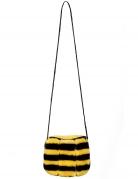 Bienen-Tasche mit Reißverschluss Faschingsaccessoire schwarz-gelb