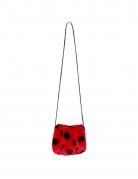 Marienkäfer-Tasche mit Reißverschluss Accessoire rot-schwarz