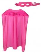 Superhelden-Accessoireset für Erwachsene Karneval pink