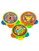 Piñata-Spielzeug Tambourin 3 Stück Deko bunt 4,5 cm