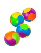 Puzzle-Bälle Piñata-Spielzeug 4 Stück bunt 3 cm
