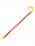 Clown-Stock Zirkus Accessoire rot-gelb 89 cm