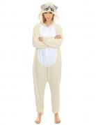 Grumpy Cat™-Kostüm für Erwachsene Faschingskostüm beige