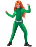 Spionage-Kostüm für Kinder Faschingskostüm grün-silber