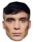 Gangster-Anführer-Maske Pappmaske TV-Serie Accessoire beige-schwarz