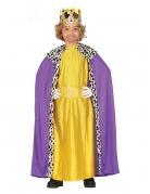 Balthasar-Kostüm für Kinder Sternsinger-Kostüm Heilige-drei-Könige-Kostüm gelb-lila