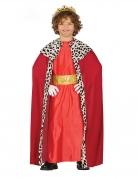 Melchior-Kostüm für Kinder Heilige-drei-Könige-Kostüm Sternsinger-Kostüm rot-gold-weiss