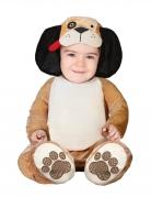 Süßer Baby-Hund Kostüm für Kleinkinder braun-schwarz-rot