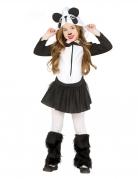 Fröhlicher Panda Kinderkostüm für Mädchen schwarz-weiss