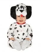 Hunde-Kostüm Dalmatiner für Baby Kleinkinder weiss-schwarz gepunktet