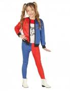 Harlekin-Kostüm für Kinder Mädchen-Kostüm blau-rot-weiss