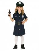 Kleine Polizistin Kinderkostüm für Mädchen blau-schwarz