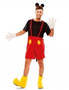 Maus-Kostüm für Herren Karneval-Kostüm schwarz-rot-gelb