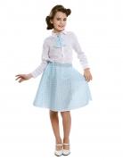 50er Jahre-Kostüm für Mädchen Faschingskostüm hellblau