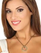 Mittelalter-Schmuck mittelalterliche Halskette für Damen aus Metall goldfarben