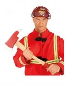 Feuerwehraxt für Erwachsene Kostümzubehör rot-braun