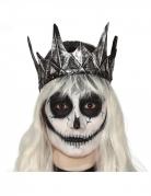 Gothic-Krone Kostümzubehör schwarz-silber