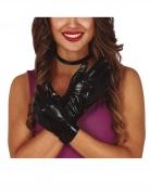Handschuhe in Lederoptik Kostüm-Accessoire schwarz