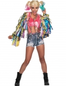 Harley-Quinn™-Kostüm für Damen Birds of Prey™ 4-teilig bunt